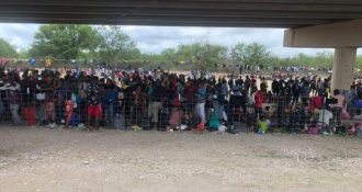 OPEN BORDERS CHAOS!  6,000 And Growing Unvaccinated Illegals Under TX Bridge Waiting to Be Released Inside US